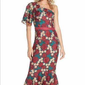 CHI CHI LONDON Jennifer One-Shoulder Dress